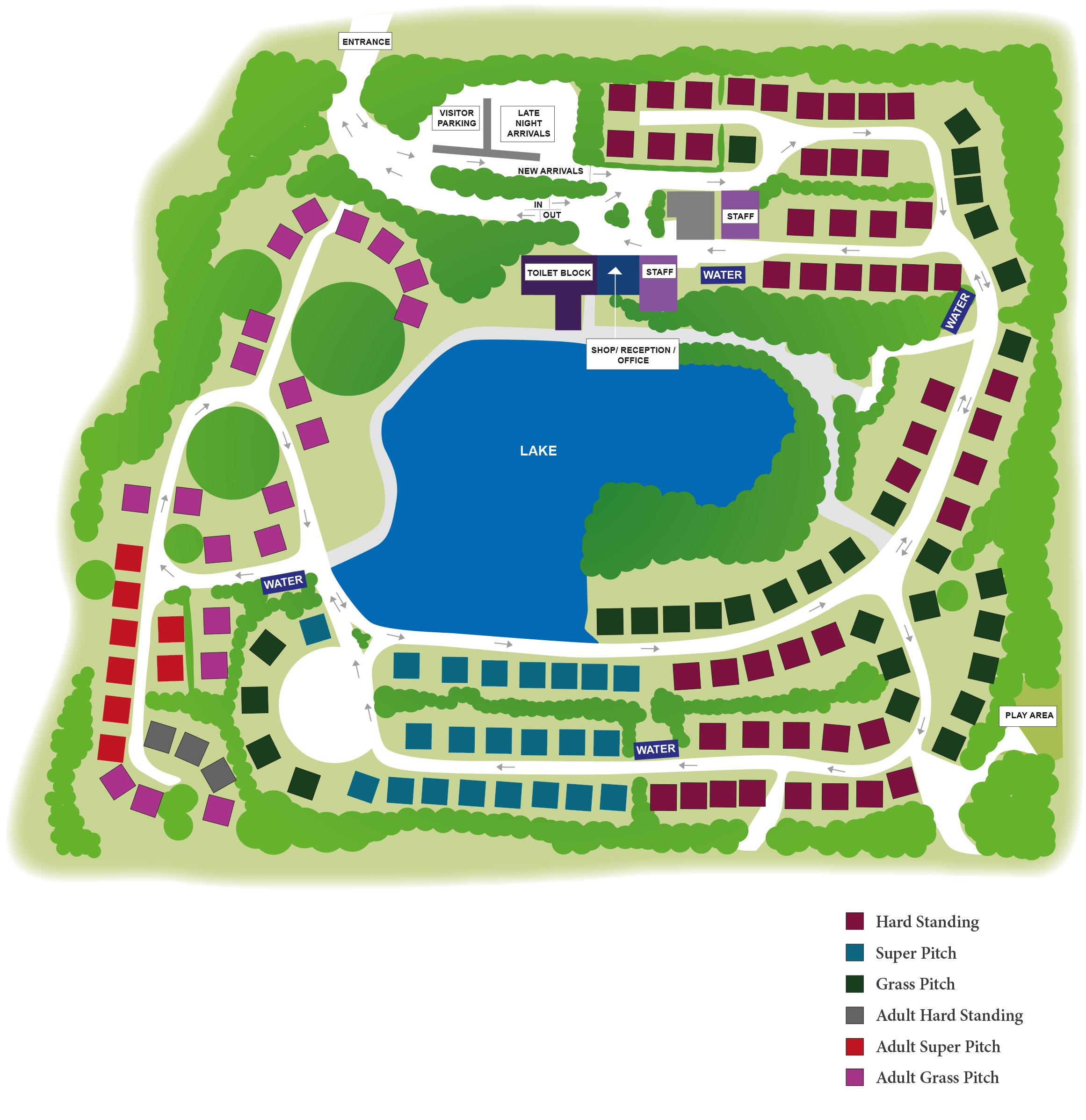 Website Site Map: Stanmore Hall Caravan Park Map