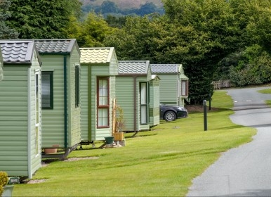 90 pitches for caravan holiday homes and lodges