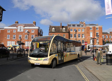 Bus service direct into Ludlow Town centre