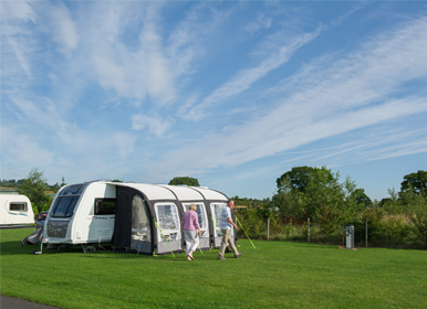 14 grass pitches (all with 240v 16 amp, electric hook-up)