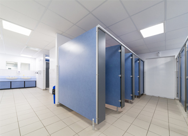 Fully centrally heated toilet and shower block