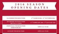 2016 Morris Leisure Parks Season Opening Dates